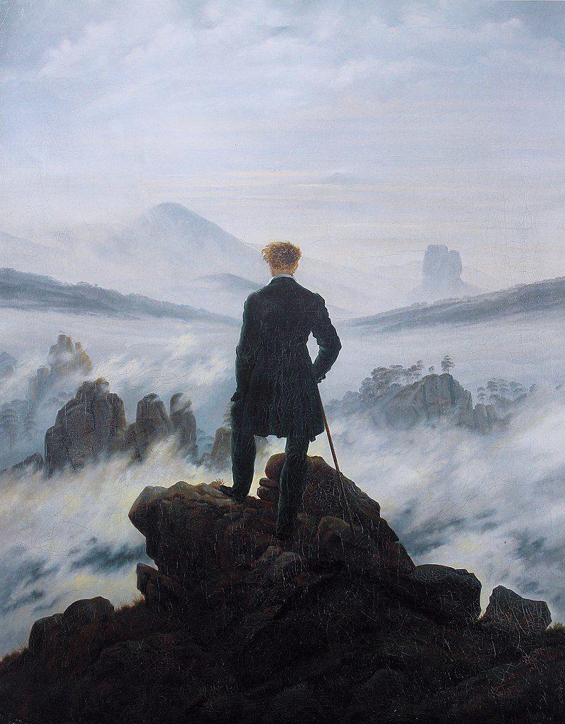Keliautojas virš debesų jūros. Kasparas Davidas Frydrichas 1818m.